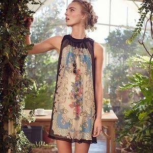 Anthro Moulinette Soeurs Silk Flora Vignette Dress